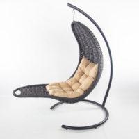 Подвесное кресло-шезлонг RECLINER (черный)