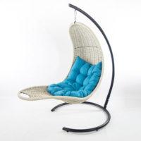 Подвесное кресло-шезлонг RECLINER (белый)