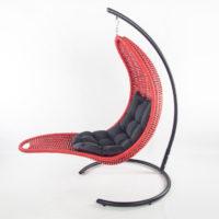 Подвесное кресло-шезлонг RECLINER (красный)